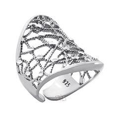 Ασημένιο δαχτυλίδι Ιστός - Ασημένια δαχτυλίδια