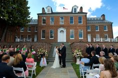 Outdoor ceremony at Halcyon House - Matt Mendelsohn Photography