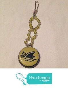 Dark Blue and Yellow Margaritaville Brewery Upcycled Bottlecap and Beads Keychain from Southern Women Crafts https://www.amazon.com/dp/B01MU8AZIZ/ref=hnd_sw_r_pi_dp_GzKCyb31S9S0K #handmadeatamazon