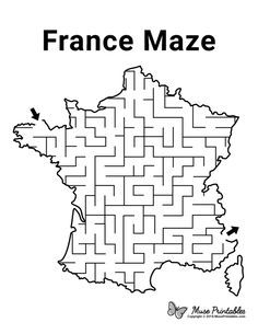 Activity Sheets For Kids, Mazes For Kids, Worksheets For Kids, France For Kids, Around The World Crafts For Kids, Day Camp Activities, France Craft, Nursery Rhymes Lyrics, Little Passports