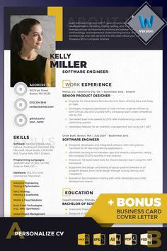 Kelly Miller - Software Engineer Resume Template Kelly Miller - S. - Kelly Miller – Software Engineer Resume Template Kelly Miller – S… Kelly Miller – Software Engineer Resume Template Kelly Miller – Software Engineer Resume Template, Resume Design Template, Creative Resume Templates, Cv Template, Creative Resume Design, Cv Finance, Creation Cv, Resume Software, Infographic Resume Template, Bio Data For Marriage