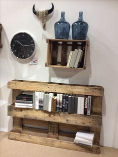 Bücherregal aus Paletten #DYI #Palettenmöbel #Book