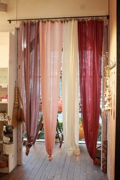 仕事部屋のカーテン