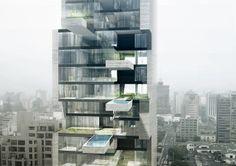 Mergulho nas alturas: prédio residencial no Peru terá piscinas suspensas