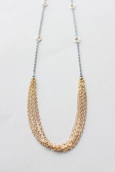 Gold Chain Necklace layers of 14k gold fill chain. So cute!