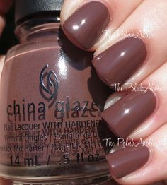 China Glaze 'The Giver' collection: Community is a brown creme w/ some nice red undertones. Not as dark as some of the other browns we've seen for Fall 2014 so far. Formula was good, 2 coats.
