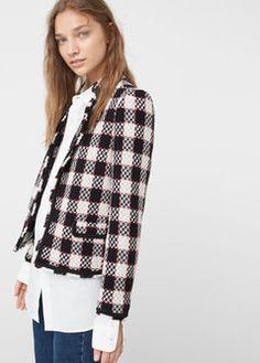 Check tweed jacket - Jackets for Woman   MANGO United Kingdom