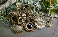 Twisted Sisters | Gothic Botanical Steampunk Spider and the Eye with Leaves