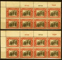 68 Best U S  Plate # Blocks images in 2014 | Stamps, Postage