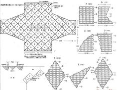 Crochet Top, Diy And Crafts, Diagram, Knitting, Pictures, Templates, Jacket, Blouses, Upcycling Clothing