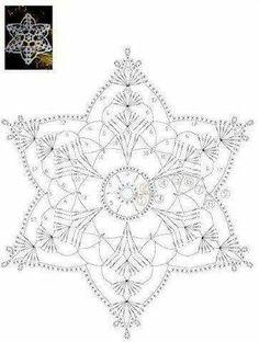 How To Knit: Crochet snowflakes, free crochet pattern Mandala Au Crochet, Crochet Snowflake Pattern, Crochet Motifs, Crochet Snowflakes, Crochet Diagram, Doily Patterns, Thread Crochet, Crochet Flowers, Crochet Stitches