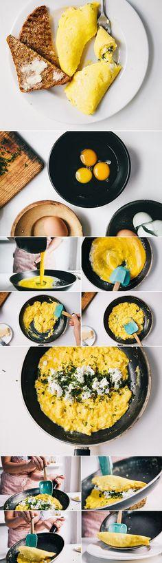 French omelette á la Julia Child