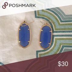 Kendra Scott Danielle earrings Beautiful blue, they're the smaller of the two types Kendra Scott Jewelry Earrings