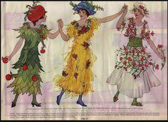 maudelynn:  Illustration for paper mache' Halloween costumes c.1919 via http://www.flickr.com/photos/39294426@N06/