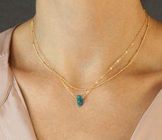 Perfect Short Layering Necklace //  DEW DROPS por LayeredAndLong, $24.00