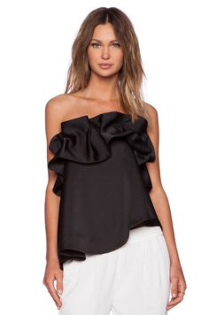 ANTHROPOLOGIE NASTY GAL C/MEO CAMEO STRAPLESS CLUB Bustier Top Size  M Black #Anthropologie #Bustier #Clubwear