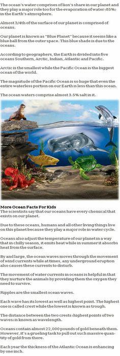 Ocean information for kids http://firstchildhoodeducation.blogspot.com/2013/11/ocean-information-for-kids.html