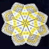 Star in a Snowflake - can be made into an afghan with worsted yarn and a much larger hook