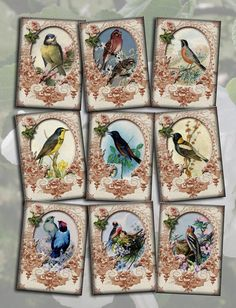 "BuY OnE GeT OnE FREE -Lovely Victorian ""Birds In Nature""  ViNtAgE Altered ArT Hang/ Gift Tags- Printable Collage Sheet JPG Digital File. $2.50, via Etsy."