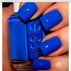 Dodger Blue nails. #thinkblue