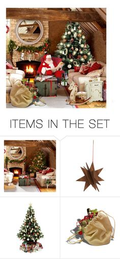 """""""Relax for a while"""" by monicavast ❤ liked on Polyvore featuring art, http, artset, SantaClaus and ChristmasTime"""