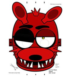 Foxy Five Nights at Freddy's FNAF Cut Out Masks by RockitfishRay