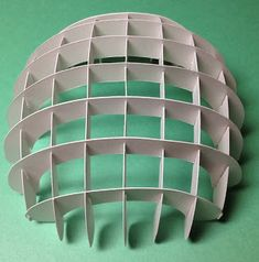 Papercrafts and other fun things: We Will Drink a Sliceform Cup of Kindness Yet, For Old Lang Syne Paper Architecture, Architecture Design, Pavilion Architecture, Song Lyrics Meaning, Sliceform, Dome Structure, Paper Art, Paper Crafts, Paper Engineering