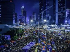 Pro-democracy protesters gather in the Admiralty district