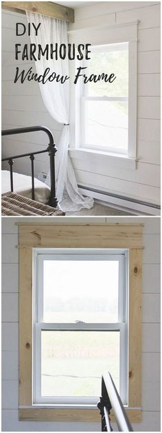 Check out this easy idea on how to make a #DIY #farmhouse window trim #homedecor @istandarddesign