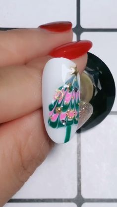 Simple nails art design video Tutorials Compilation Part 113 - The most beautiful nail designs Cute Christmas Nails, Xmas Nails, Christmas Nail Designs, Diy Nails, Cute Nails, Christmas Hat, Christmas Design, Nail Art Designs Videos, Nail Art Videos