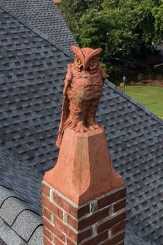 Owl statue atop Orr Chapel on the Mississippi University for Women's campus. Students would throw pennies at the owl hoping to bring them good luck during exams. It is one of the W's oldest traditions. Photo credit from the university files.