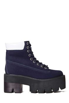 Jeffrey Campbell Nirvana Boot - Navy | Shop What's New at Nasty Gal