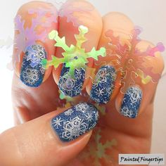 Christmas Snowflakes | Painted Fingertips