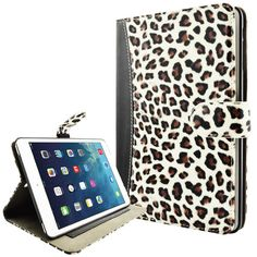 Cute+Ultra+Slim+Apple+iPad+Air+Case+in+White+Cheetah+by+caseen,+$14.99