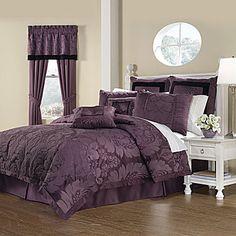 Royal Heritage Home Lorenzo Purple 8 Piece Queen Size Comforter Set Full Size Comforter Sets, King Size Comforters, Queen Comforter Sets, Bed Sets, Duvet Sets, Purple Comforter, Grey Bedding, Lavender Bedding, Purple Bedding Sets