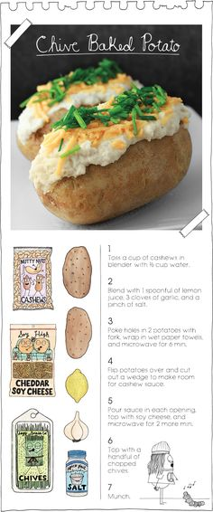 Chive Baked Potato - The Vegan Stoner