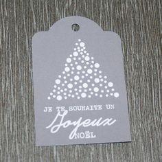 """9 étiquettes cadeau """"Je te souhaite un Joyeux Noël"""" : Emballages cadeaux par creerpourvous"""