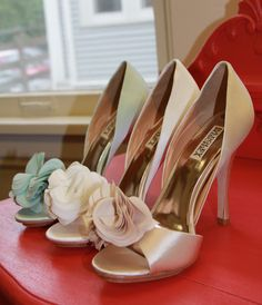 Badgley Mischka shoes are 20% off online for a limited time at weddingshoppeinc.com