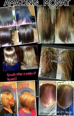 Monat Hair care line. These are REAL results! http://www.mymonat.com/hairfxrmom