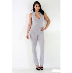 e39ad99fbe0d Ribbed Cut Out Wide Leg Jumpsuit 114711