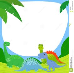 marcos de dinosaurios | Dinosaurio Y Marco Fotos de archivo libres de regalías - Imagen ...