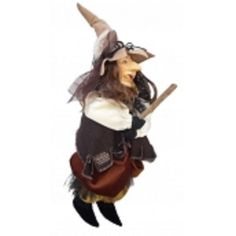 PENDLE WITCH TIZZY 35CMS ASSORTED COLOURS WITCHES OF PENDLE ORNAMENTS