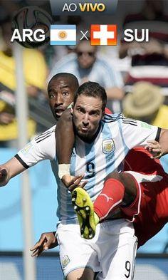 Assista a Argentina 0 x 0 Suíça (JUAN MABROMATA / AFP)01/07/2014.