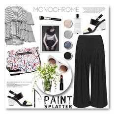 """MONOCHROME"" by camillatinedo ❤ liked on Polyvore featuring Caroline Constas, Marni, Balmain, Marc Jacobs, NARS Cosmetics, Bomedo, Manon Baptiste, Terre Mère, Agonist and Smashbox"