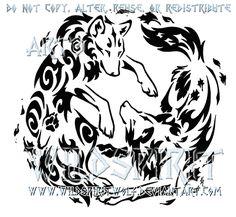 Air And Earth Yin Yang Wolf Design by WildSpiritWolf.deviantart.com on @deviantART