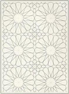 Pattern in Islamic Art - BOU 129 moorish arabesque moroccan muslim geometric tile design: