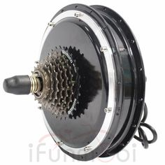 New Style Black Brushless Gearless Hub Motor for Rear Wheel. Motor Type: Thread-in type Brushless Gearless Hub Motor. Hub dropout width: front or rear(with Freewheel). Electric Bicycle Kit, Electric Tricycle, Electric Scooter, Electric Cars, E Quad, E Mountain Bike, Rs4, E Mobility, Motorised Bike