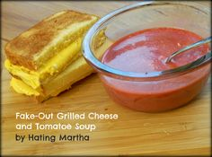 Fake-out grilled cheese and tomato soup