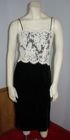 Vintage 80s Black Velvet with Ivory Lace by TheScarletMonkey