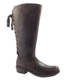 Loving this Bordeaux Krisper Leather Boot on #zulily! #zulilyfinds